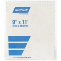 Norton  11 in. L x 9 in. W 80 Grit Aluminum Oxide  Sandpaper  1 pk - Case Of: 1; Each Pack - Count of: 1