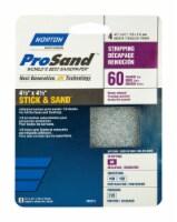 Norton  ProSand  4-1/2 in. L x 4-1/2 in. W 60 Grit Aluminum Oxide  Sanding Sheet  4 pk - Case - Count of: 1
