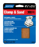 Norton  MultiSand  5-1/2 in. L x 4-1/2 in. W 100 Grit Aluminum Oxide  1/4 Sheet Sandpaper  6 - Count of: 1
