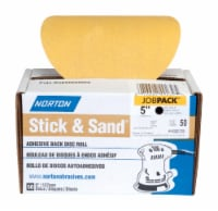Norton  Stick & Sand  5 in. Aluminum Oxide  Adhesive  A290  Sanding Disc  150 Grit Fine  50 - Count of: 1