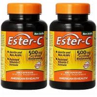 American Health 500 Mg Ester C with Citrus Bioflavonoids, 120 + 120 Capsules - 240