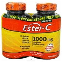 American Health 1000 Mg Ester C With Citrus Bioflavonoids, 90 + 90 Capsules - 180