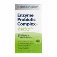 American Health Enzyme Probiotic Complex Plus, 20 Billion Live Probiotic Cultures,60Capsules - 60