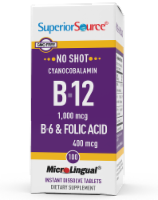 Superior Source No Shot B-12 with B6 & Folic Acid Tablets - 100 ct