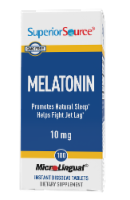 Superior Source Melatonin Dissolving Tablets 10mg - 100 ct