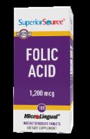 Superior Source Folic Acid Dissolving Tablets 1200mg - 100 ct