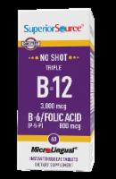 Superior Source No Shot Triple B-12 3000mcg & B6-Folic Acid 800mcg Instant Dissolve Tablets - 60 ct