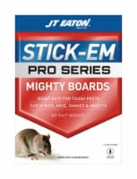 JT Eaton 7567308 Stick-Em Pro Series Mighty Boards Small Glue Animal Trap for Rodents  Snakes
