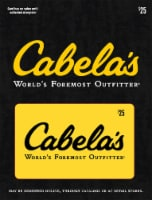 Cabela's $25 Gift Card