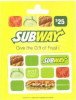 Subway $25 Gift Card