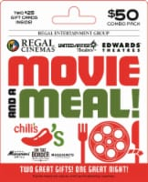 Regal & Brinker Movie and a Meal $50 Gift Card