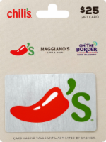 Chili's $25 Gift Card