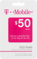 T Mobile $50 Gift Card