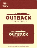 Outback $15-$500 Gift Card - $0.10 removed at checkout