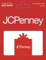 JCPenney $25-$500 Gift Card - After Pickup, visit us online to activate and add value