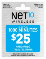 NET10 Wireless 1000 Minutes $25 Phone Card