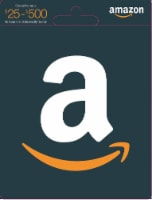 Amazon $25-$500 Gift Card - After Pickup, visit us online to activate and add value