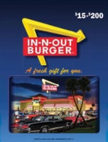 In-N-Out Burger Variable Amount Gift Card - 1 ct