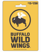 Buffalo Wild Wings $15-$250 Gift Card - After Pickup, visit us online to activate and add value