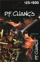 P.F. Changs $25-$500 Gift Card - $0.10 removed at checkout