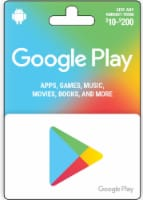 Google Play $10-$200 Gift Card - After Pickup, visit us online to activate and add value