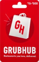 Grubhub $15-$500 Gift Card - After Pickup, visit us online to activate and add value