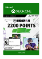 Xbox One Madden 21 2200 Point In Game Currency Gift Card