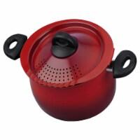 Bialetti 7550 Nonstick Aluminum 5 Quart Kitchen Pasta Pot with Strainer Lid, Red - 1 Unit