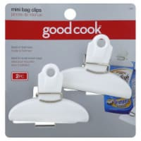 GoodCook™ White Mini Bag Clips - 2 pk