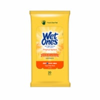 Wet Ones Citrus Antibacterial Hand Wipes Travel Pack