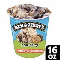 """Ben & Jerry's Vegan Non-Dairy Frozen Dessert """"Milk"""" & Cookies"""