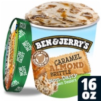 Ben & Jerry's Vegan Non-Dairy Frozen Dessert Caramel Almond Brittle