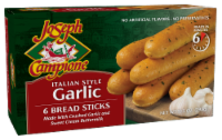 Joseph Campione Italian Style Garlic Bread Sticks 6 Count