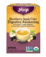 Yogi Blackberry Apple Cider Digestive Awakening Tea Bags