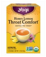 Yogi Throat Comfort Honey Lemon Caffeine Free Tea Bags - 16 ct