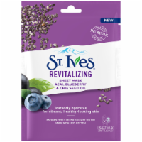 St. Ives Revitalizing Acai Blueberry & Chia Seed Oil Sheet Mask