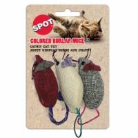 Spot Colored Burlap Mice Cat Toys