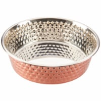 Spot Honeycomb Non-Skid Dish - Steel Copper