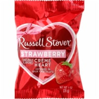 Russell Stover Strawberry Cream Heart Bar Covered in Milk Chocolate