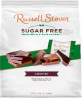 Russell Stover Sugar Free Assorted Chocolate Tiles - 17.6 oz