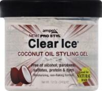 Ampro Pro Styl Clear Ice Coconut Oil Styling Gel - 12 oz