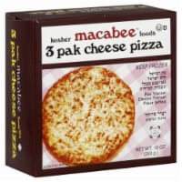 Macabee's Kosher Foods Cheese Pizzas 3 Count