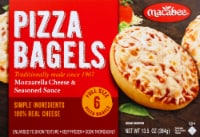 Macabee's Kosher Foods Mozzarella Cheese Bagel Pizzas 6 Count