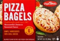 Macabee's Kosher Foods Mozzarella Cheese Bagel Pizzas 6 Count - 12.5 oz