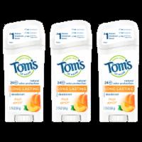 Tom's of Maine Long Lasting Fresh Apricot Antiperspirant/Deodorant 3 Count