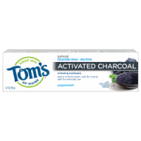 Tom's of Maine Peppermint Activated Charcoal Anticavity Toothpaste