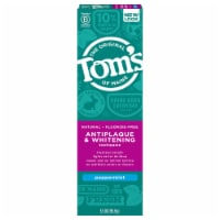 Tom's of Maine Antiplaque & Whitening Peppermint Fluoride Free Toothpaste