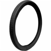 Custom Accesories Braided Steering Wheel Cover - Black