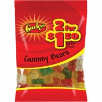 Gurley's Assorted Fruit Flavors 3 Oz. Gummy Bears 19063 Pack of 12 - 3 Oz.