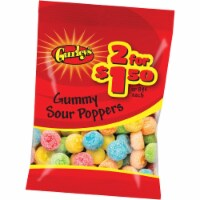 Gurley's Assorted Fruit Flavors 2.25 Oz. Sour Poppers Gummy 19093 Pack of 12 - 2.25 Oz.